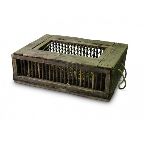 Wood Cage with rope handles