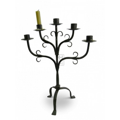 Iron Table Candelabra #5