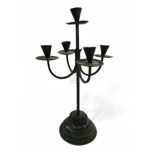Iron Table Candelabra #7