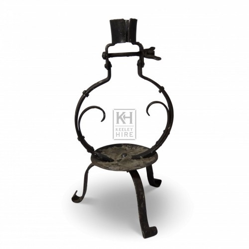Iron Circle Candleholder
