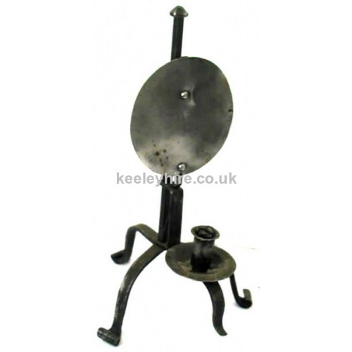 Iron Candleholder with Reflector Plate