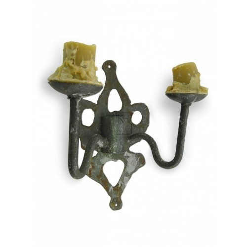 Double Iron wall candle holder #10