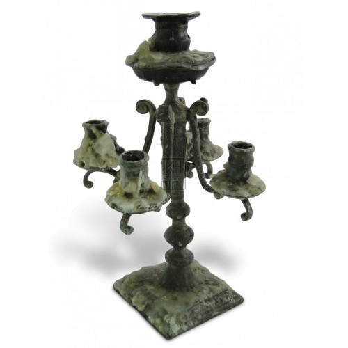 Pewter Candleabra #2