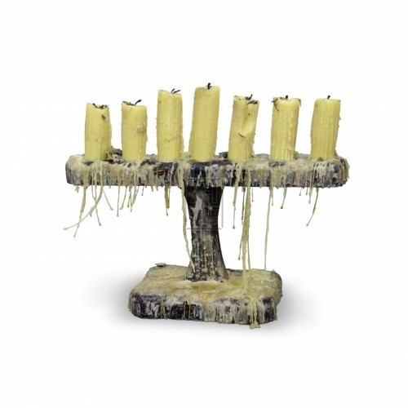 T - Shape Wood Candleholder