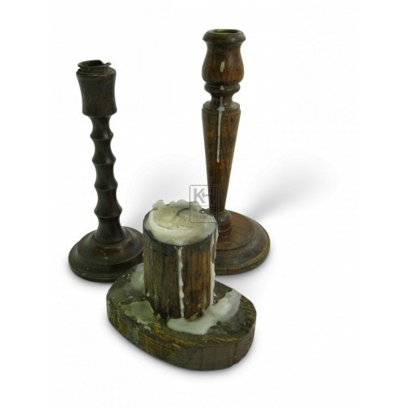 Wood Candleholders