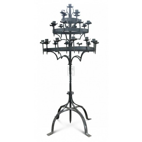 7ft Floorstanding Iron Candelabra