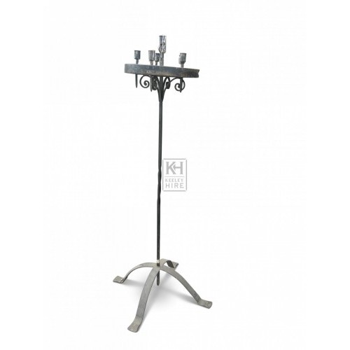 6 Light Floorstanding Iron Candelabra