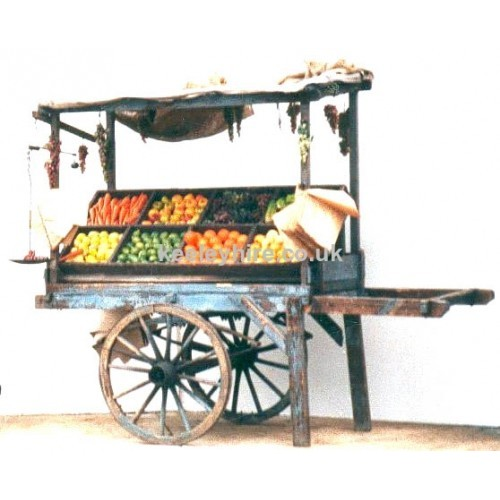 2-wheel handcart with uprights & top