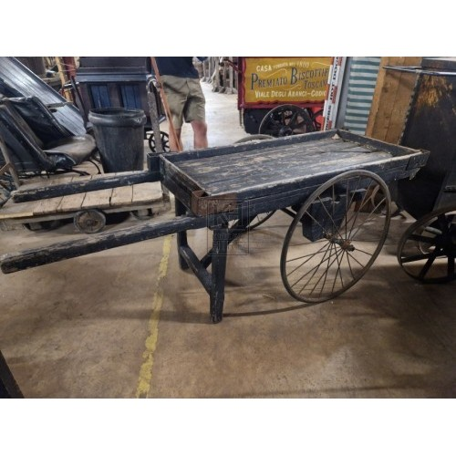 Small wood 2-wheel handcart