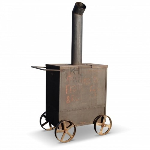 Metal cart with chimney