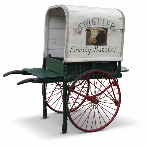 Butchers Hand Cart With 2 Metal Wheels