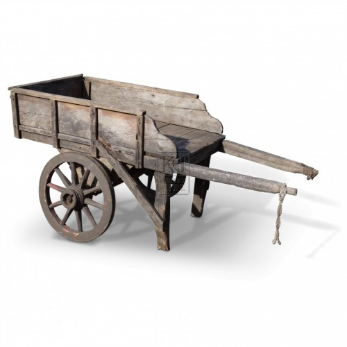 Wooden Handcart with Shaped Sides