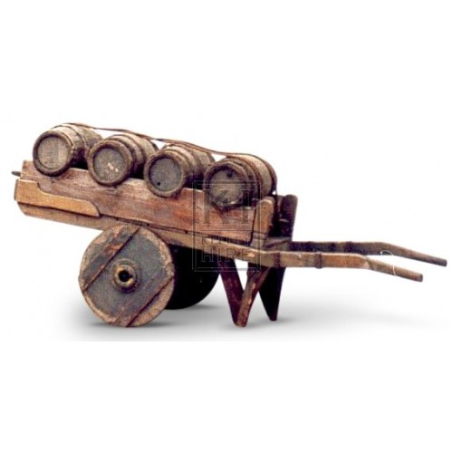 Hand Cart With 4 Barrels