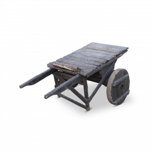 Flat 2-wheel handcart with handles
