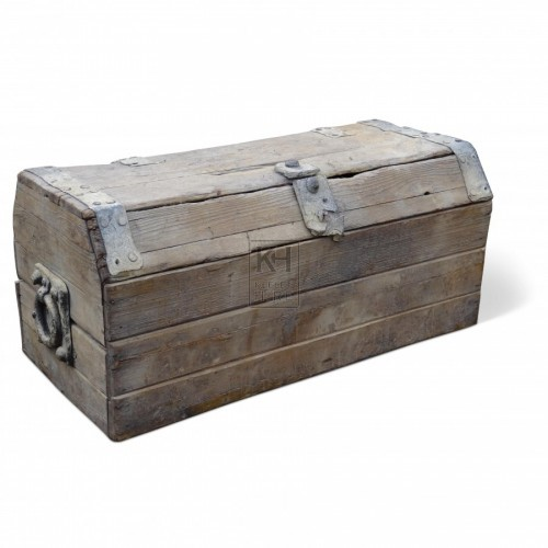 Medium Grey Wood Chest
