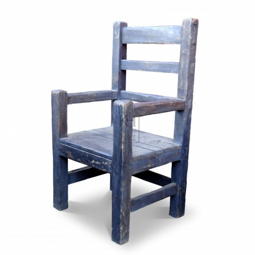 Rough Grey Wood  Arm Chair