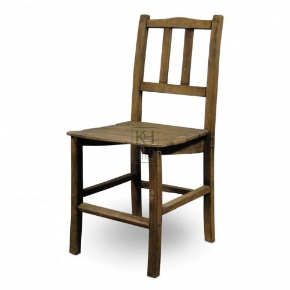 Slatted Back Wood Chair