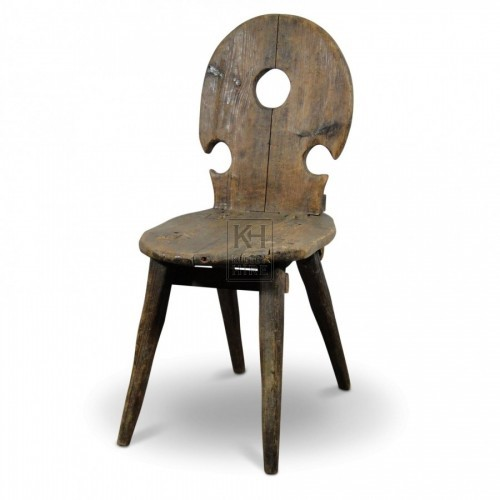 Wood Chair With hole In Back