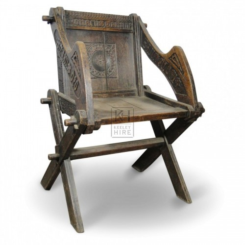 Carved Chair with Peg Joints