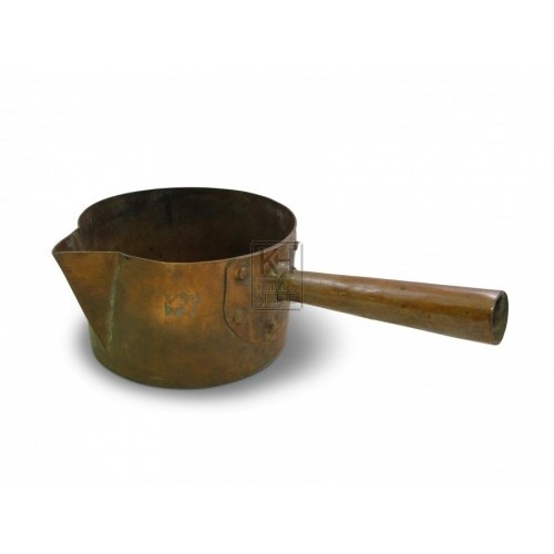 Medium Copper Saucepan with Pouring Lip