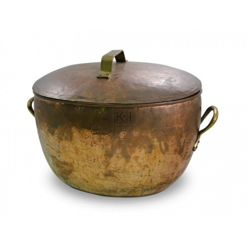 Large Copper Cooking Pot