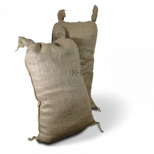 Filled Hessian Sacks