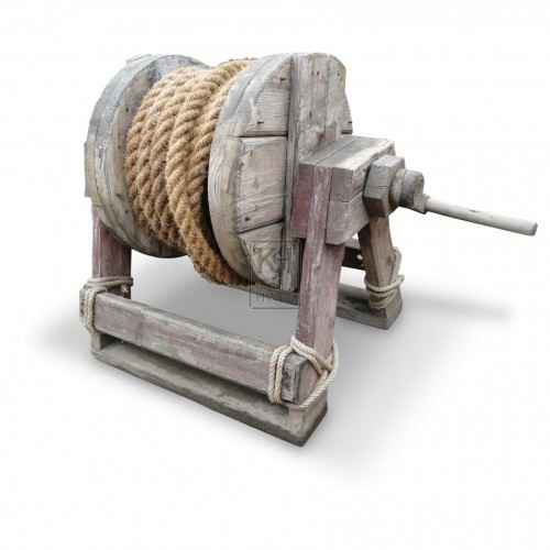 Large Wood Winch #2