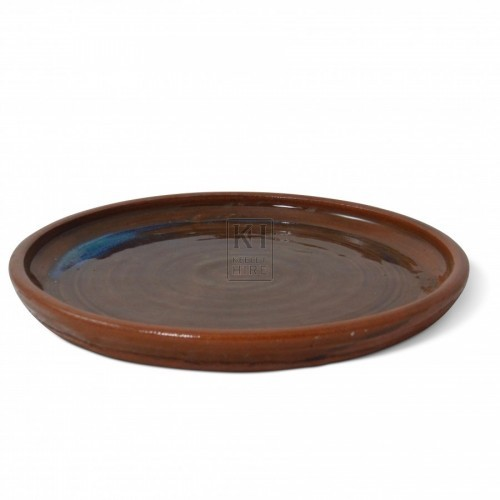 Brown Earthenware Plate