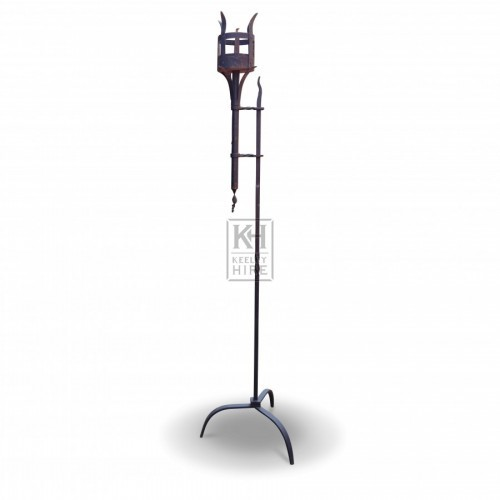 Tall Floorstanding Iron Flambeaux #1