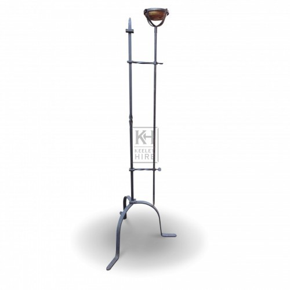 Floorstanding Iron Flambeaux #3