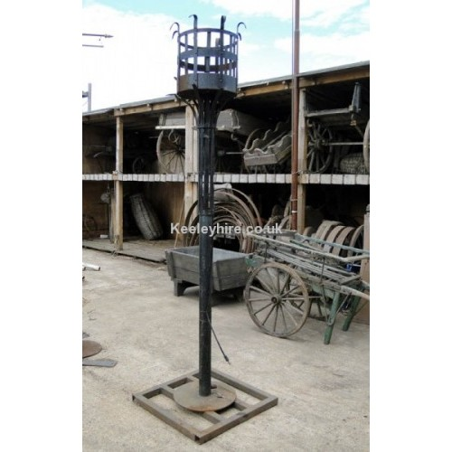 Tall iron spiked beacon brazier