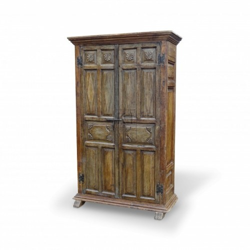 Large Dark Wood Freestanding Cupboard