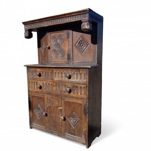 Dark Oak Court Cupboard
