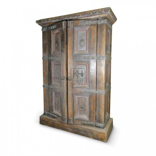 Large Carved Detail Wardrobe