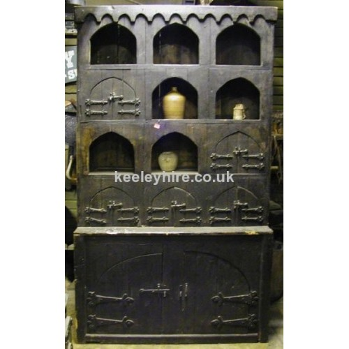Dark Wood Cupboard with Arches