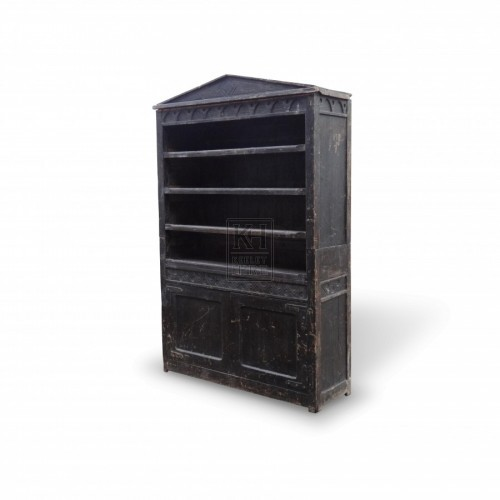 Large Dark Wooden Bookshelves