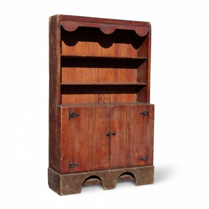 Wooden Dresser with Shelves