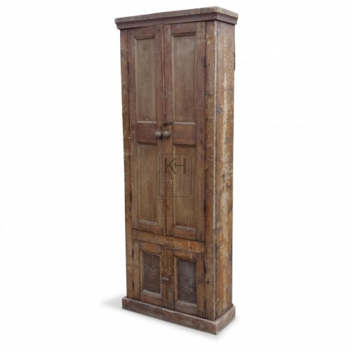 Tall Wooden Cupboards