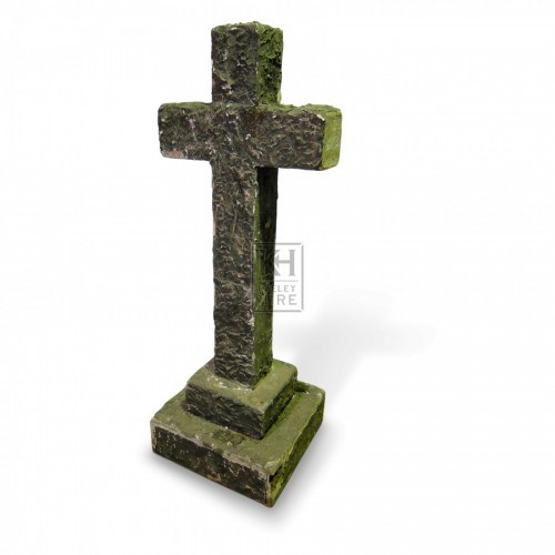 Stone Effect Cross on Plinth