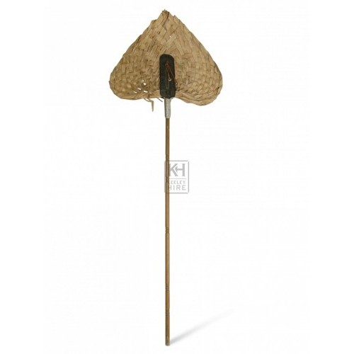 Long Handled Straw Fan