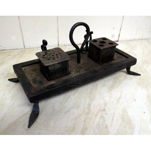Iron Writing Set With Sander & Inkwell