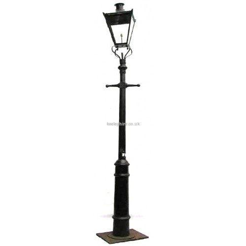 Cannon Lamppost with Square Lamp
