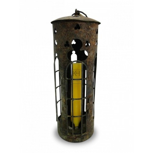 Cylinder Lantern with Wire Door