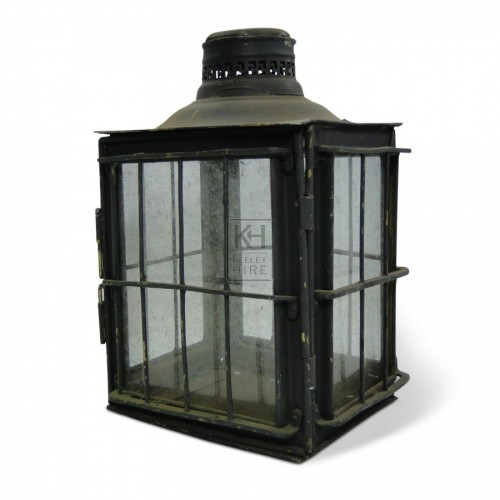 Square Lantern with glass sides