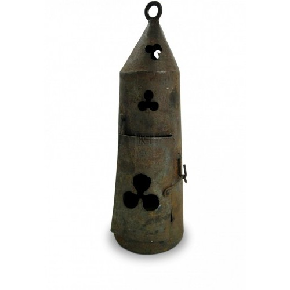 Cylinder Lantern with Cloverleaf Holes
