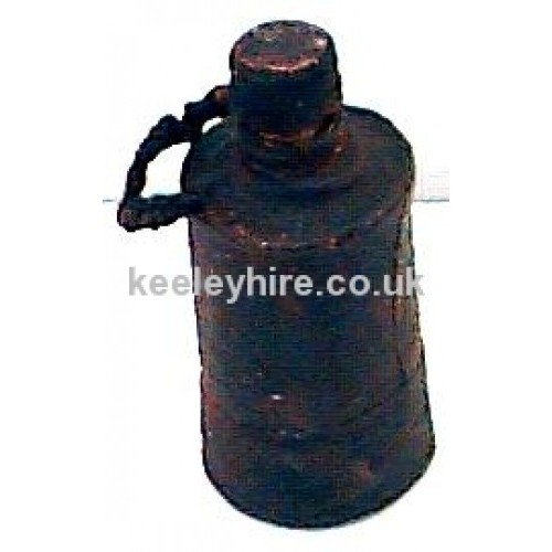 Leather Bottle with Lid