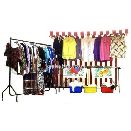 Clothes market stall