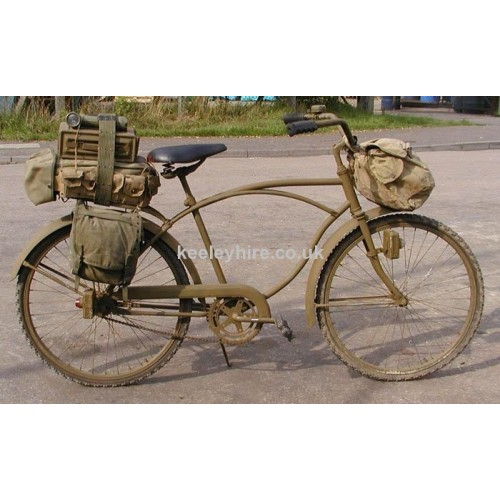 Military Bicycle with Pannier and Bags