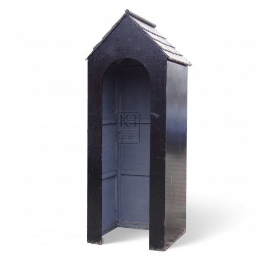 Black Wooden Sentry Box