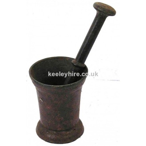 Small Iron Mortar & Pestle